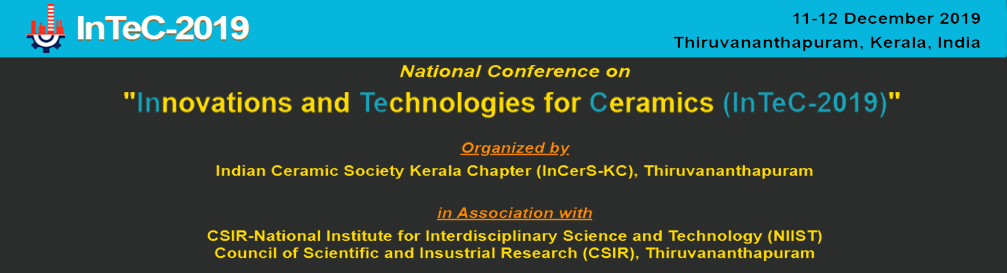 National conference Innovations and Technologies for Ceramics